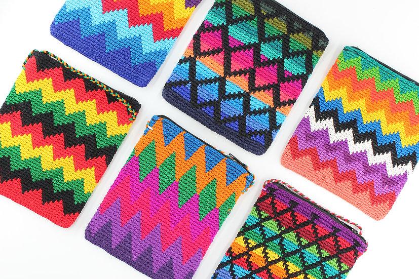 Rainbow Crochet Cross-body Mini Bag