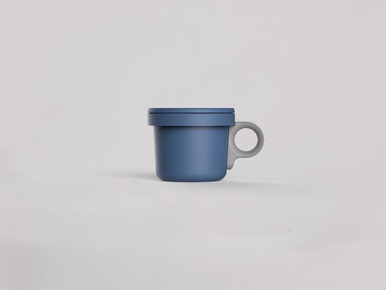 Enamel Hook Short Mug Blue