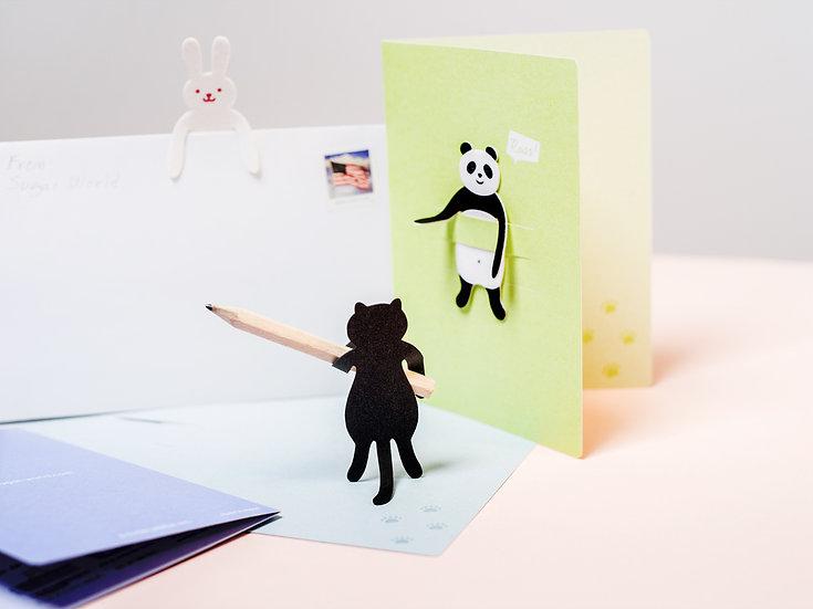 Animal Clip & Card