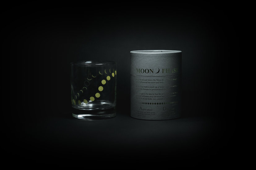 Moon Phase Whiskey Glass