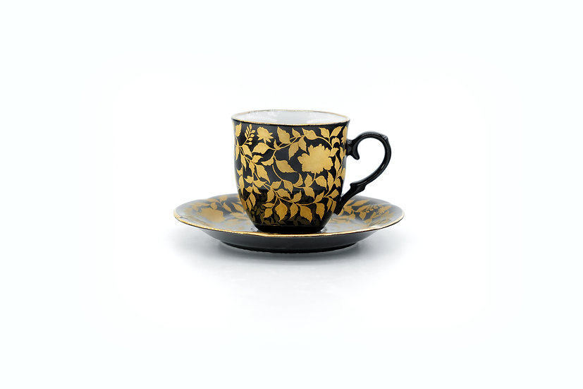 Kutani | Golden Peony Cup & Saucer