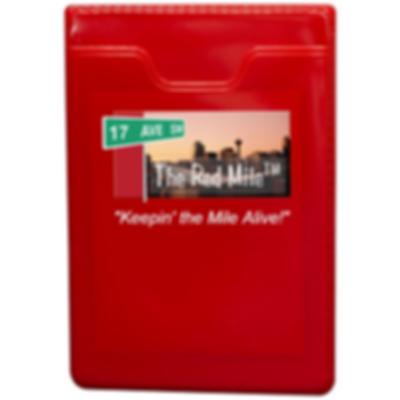 Red Mile RFID Phone Wallet Red
