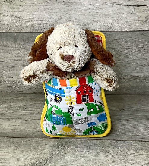 Large Ted in a Bed - Farmyard Dog