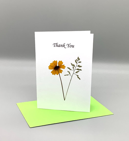 Thank You - Yellow wildflower