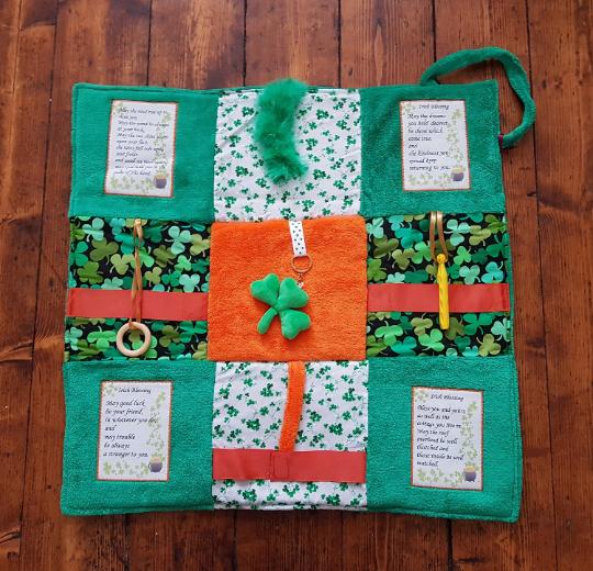 Fidget Blanket in shades of Green