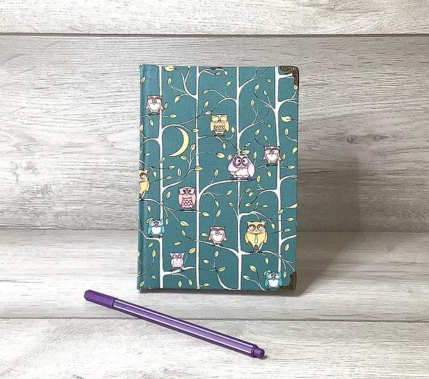 A5 Fabric Covered Notebook - Wisdom