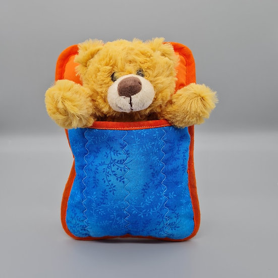 Ted in a Bed - Golden Teddy