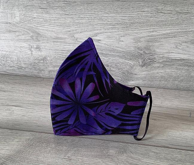 Medium Face Covering - Opus in Purple