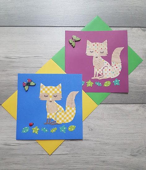 Set of Two Fox Cards
