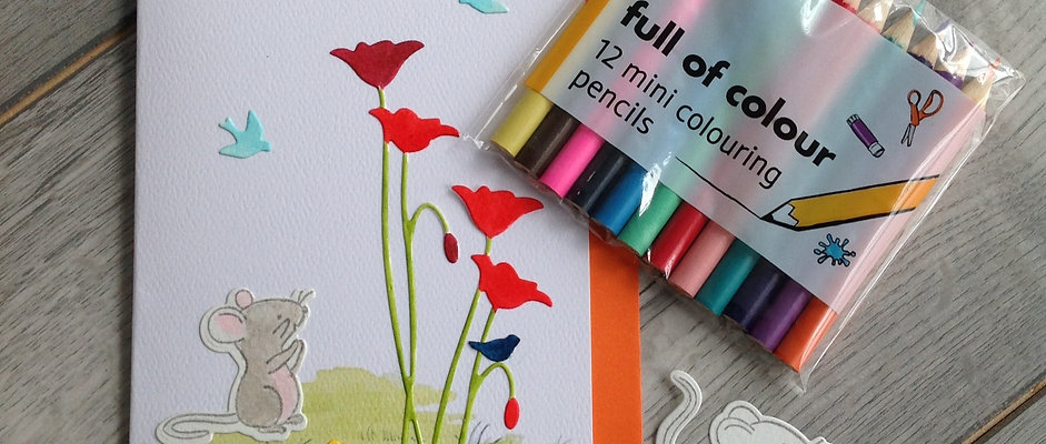 Mouse Card Kit - Make your own set of four cards