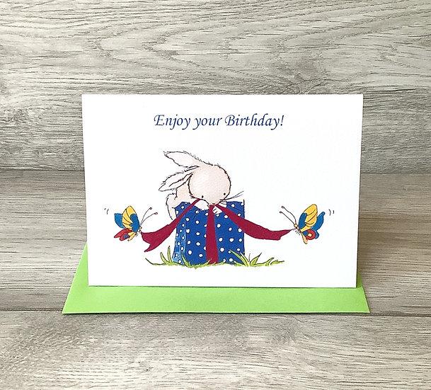 Enjoy your Birthday! - Ink Stamped Card