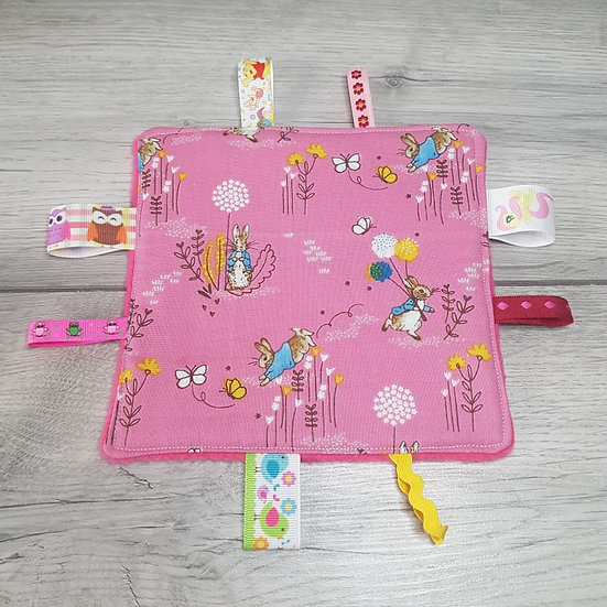 Small Tag Square - Sugar Pink