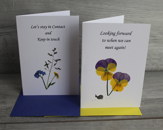 Keep in Touch Cards - Forget me not & Pansy