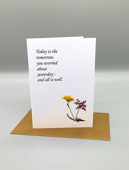 Pressed Flower Card - Today is....