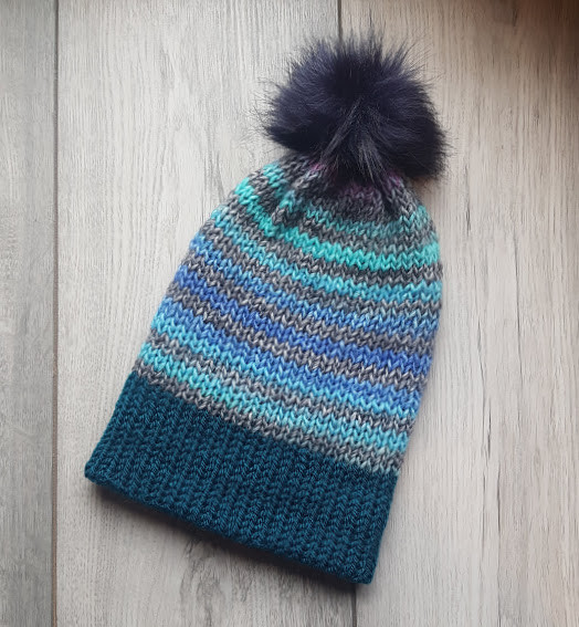 Handmade Knitted Hat - Winter Frost