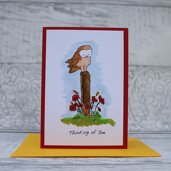 Watercolour card - Thinking of you