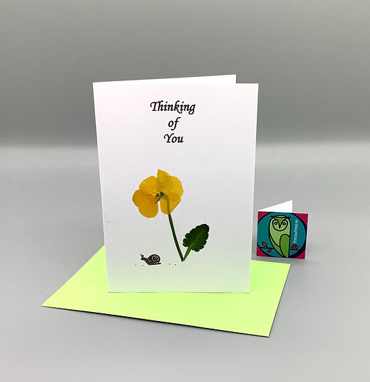Thinking of You - Yellow Pansy