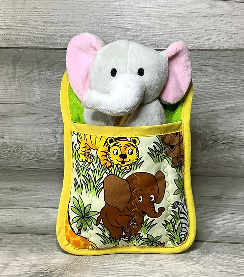 Ted in a Bed - Elephant with yellow blanket