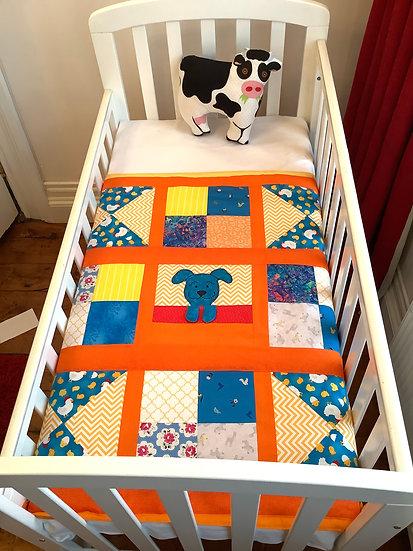 Appliqué Blanket - Playful Puppy Patchwork