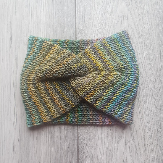 Handmade Knit Headband - Watercolour Grasses
