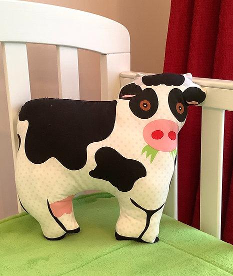 Cow Cushion - Creamy white & black