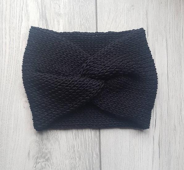 Handmade Knit Headband - Midnight