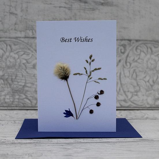 Connemara Pressed Flower Card - Best Wishes
