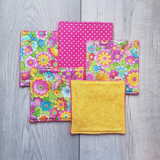 Cotton Cosmetic Pads - Summer Bloom