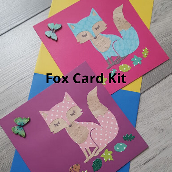 Fox Card Kit - Make your own set of four cards