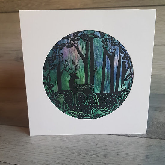 Christmas Card - Stag in the Forest