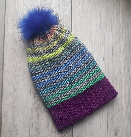 Handmade Knit Hat - Spring Buds