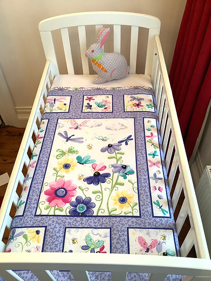 Panel  Blanket - Butterflies and flowers