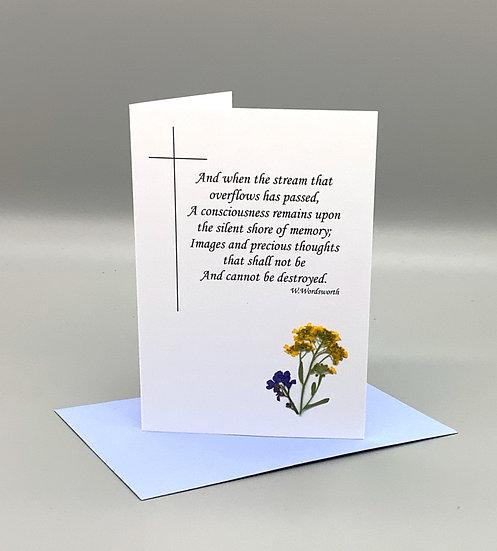 Sympathy Card Wordsworth - Alyssum