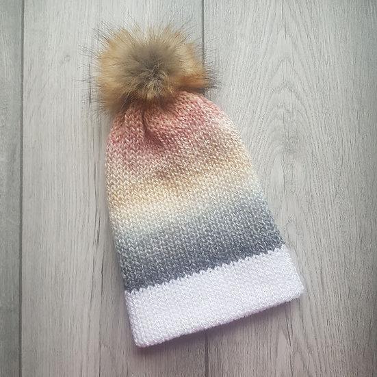 Handmade Knit Hat - Misty Morning
