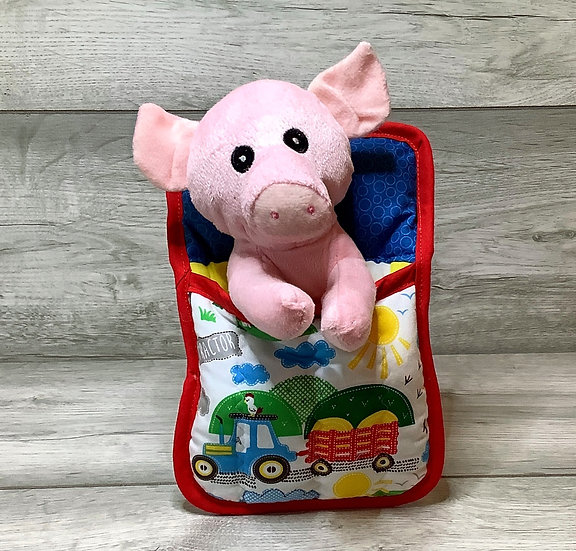 Ted in a Bed - Helpful  Pig