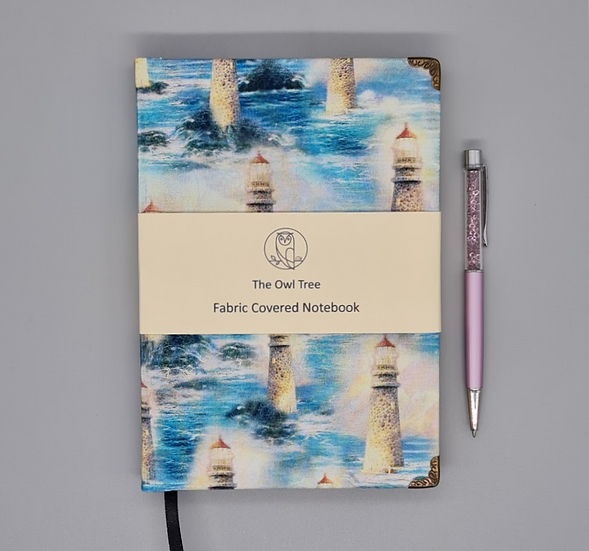 Fabric Notebook - Lighthouse