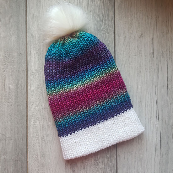 Handmade Knit Hat - Stained Glass Window