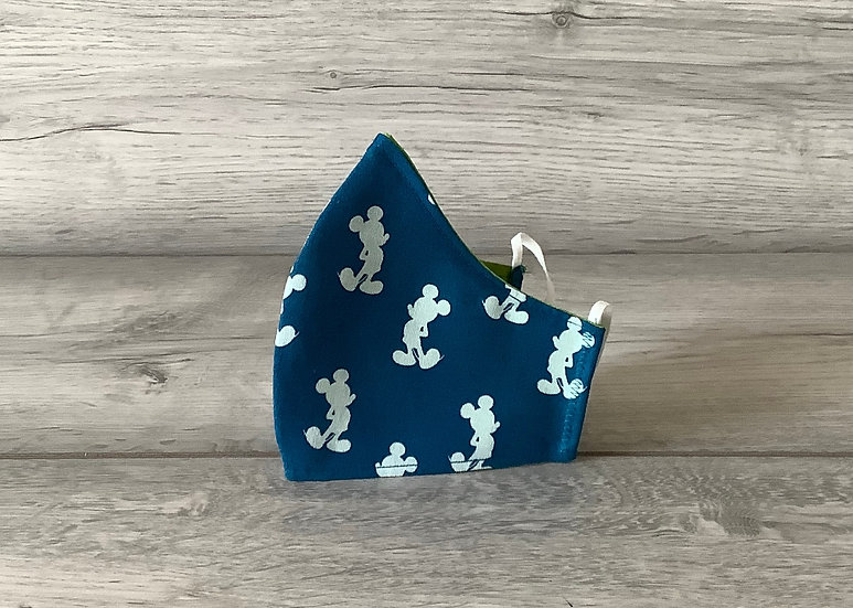 Extra Small Face Covering - Mickey (blue)