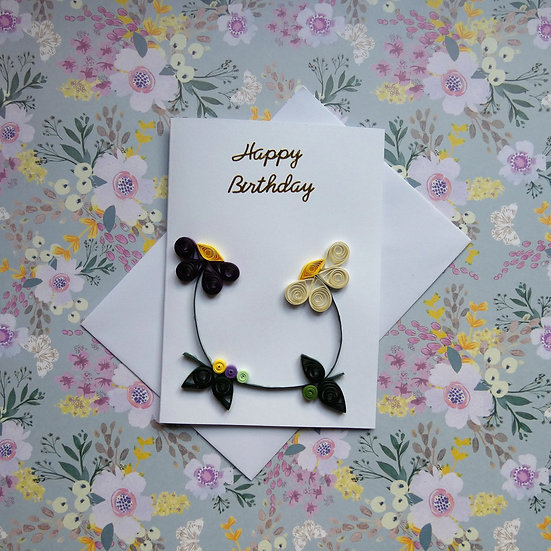 Quilled Card - Happy Birthday
