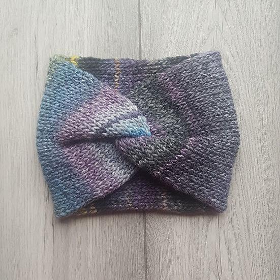 Handmade Knit Headband - Blackberry
