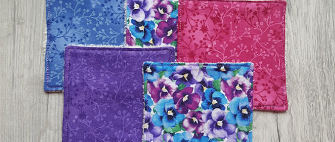 Cotton Cosmetic Pads - Lavender Burst