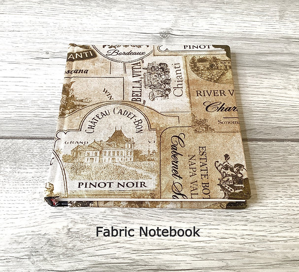 Fabric Covered Notebook - Cheers