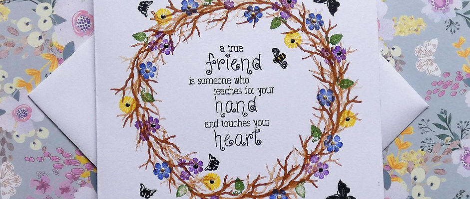 Hand Stamped Friendship Card