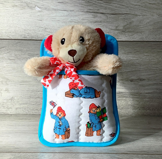 Ted in a Bed - Ted with red