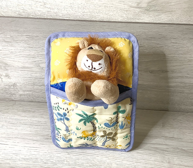 Ted in a Bed -Lion Teddy