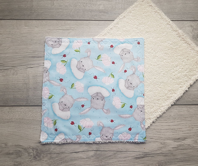 Face towel - Rabbits & Ladybirds