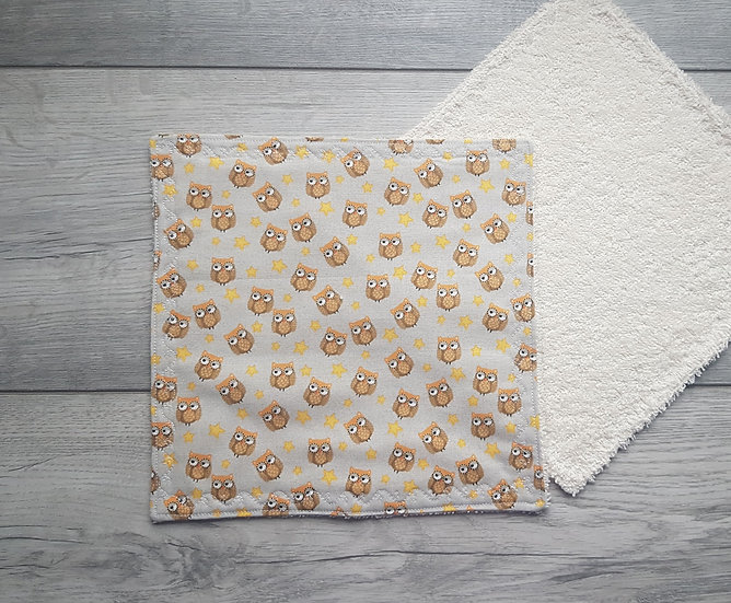 Face Towel - Owls