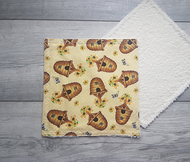 Face towel - Bumble Bees