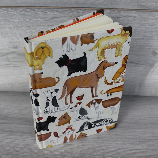 Fabric Notebook -Dogs