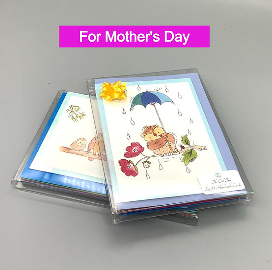 Mother's Day Gift & Card - 4 watercolour cards.